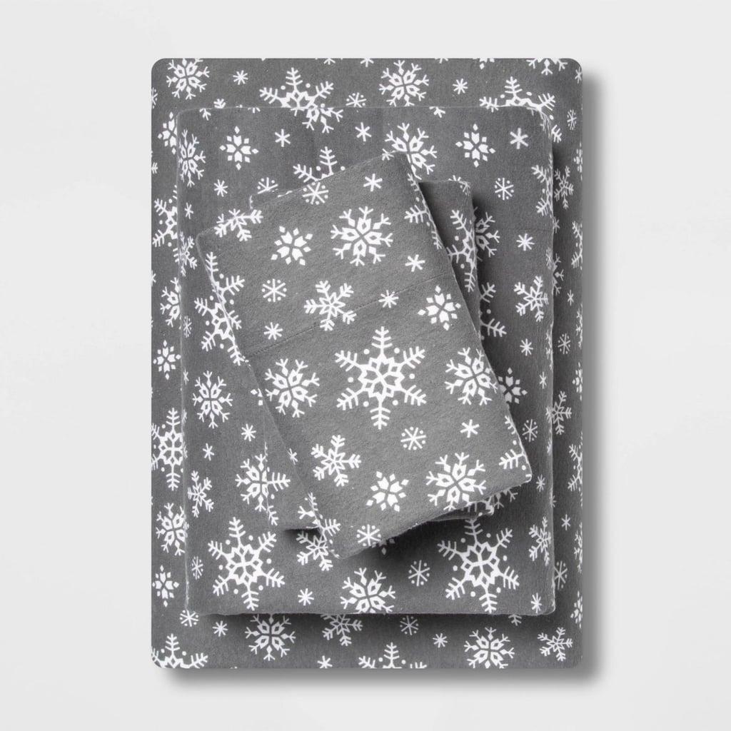 Wondershop Holiday Print Flannel Sheet Set