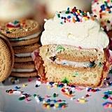 Oreo-Stuffed Funfetti Cupcakes