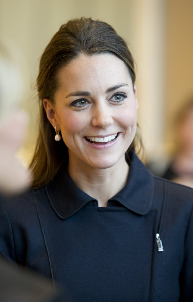 Kate Middleton changed up her blowout with a half-updo. It's a simple style if you like keeping your hair down.