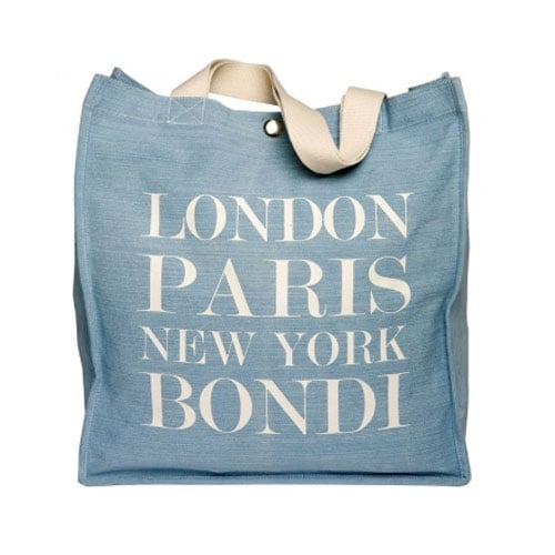 London, Paris, New York, Bondi Denim Tote