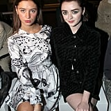 Iris Law and Maisie Williams at the Stella McCartney Paris Fashion Week Show