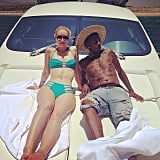 Iggy Azalea showed us just how fancy she can get when she went yachting with Nick Young in a bikini.
