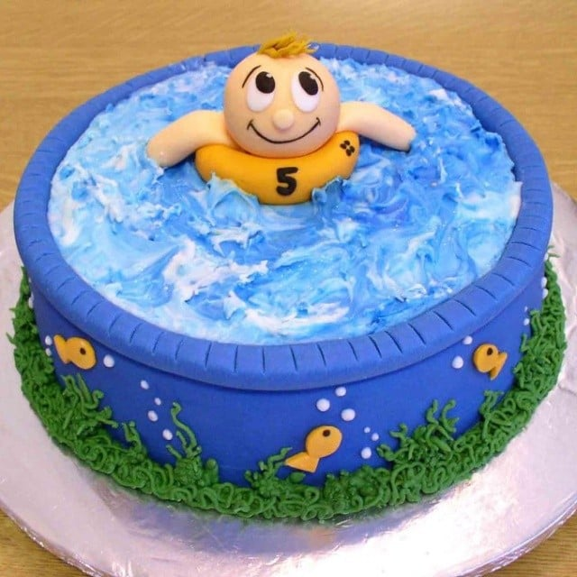 Float Away Pool Party Cakes Popsugar Moms Photo 18