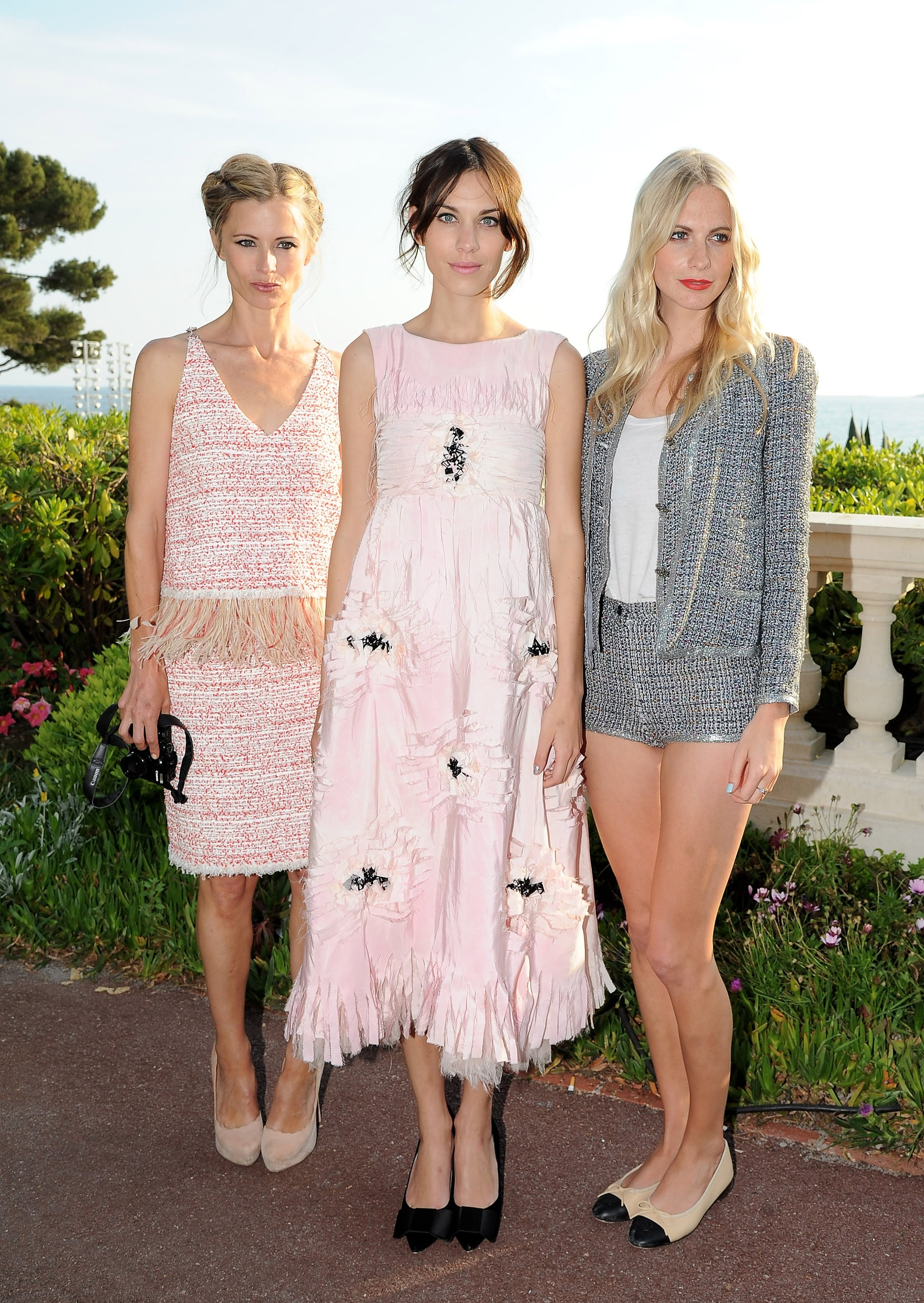 Laura Bailey, Alexa Chung and Poppy Delavingne