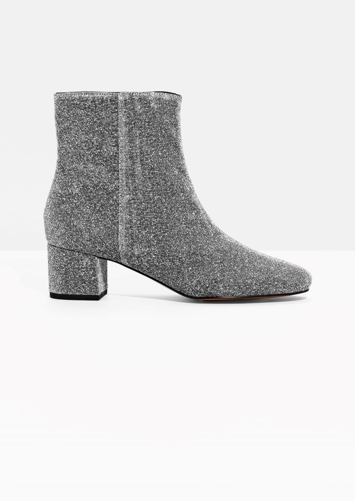 & Other Stories Lurex Ankle Boots (£95)