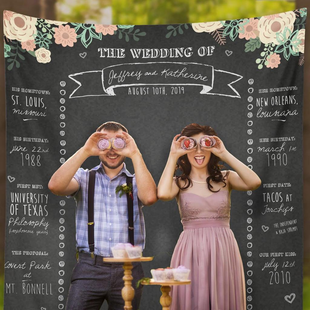 Custom Wedding Booth Chalkboard