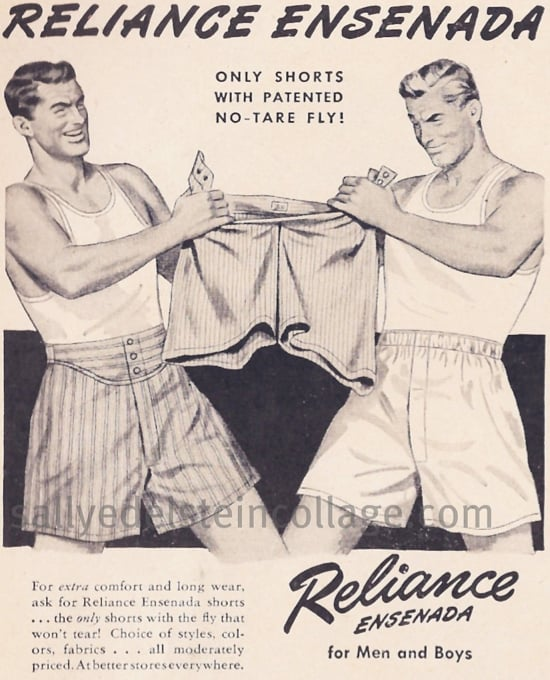 What? Don't get any ideas — we're just two adult men palling around in our boxers.