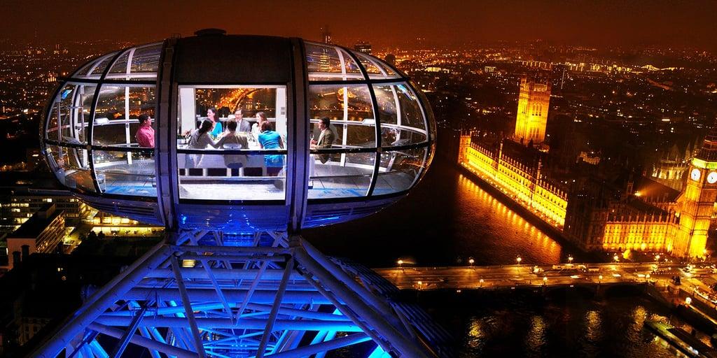 Dining 135 London Eye UK - Mulai dari Atas Pohon Sampai Bawah Laut, 5 Restoran Greget ini Worth Banget Kamu Kunjungi!