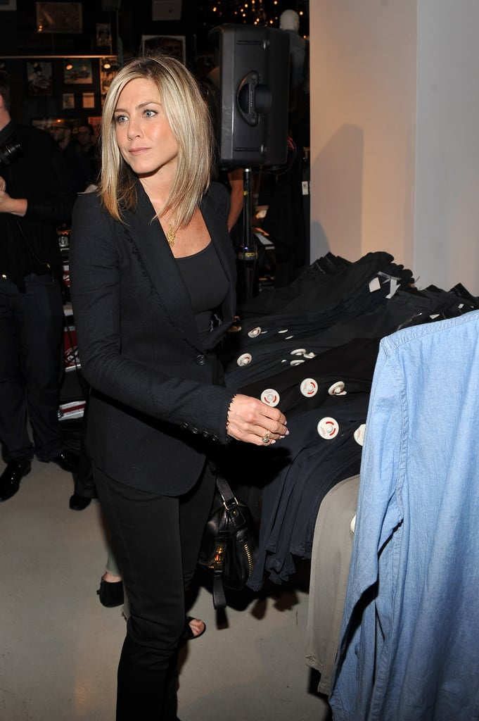 Jennifer checked out the clothing at Bloomingdale's.