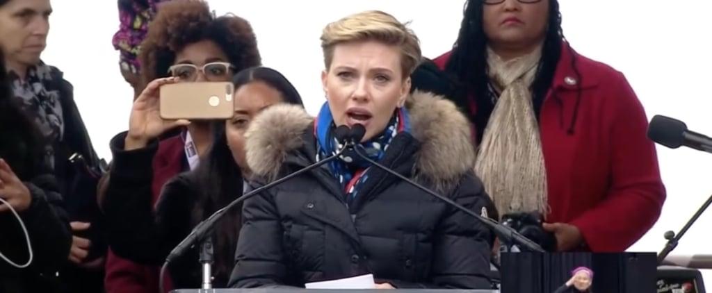 Scarlett Johansson Speech Women's March on Washington 2017