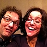 Julia Louis-Dreyfus had some fun with Veep's Chris Addison. Source: Julia Louis-Dreyfus on WhoSay