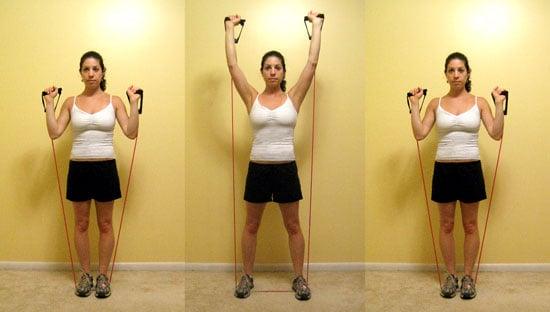 Multitasking Move: Shoulder Press Steppers