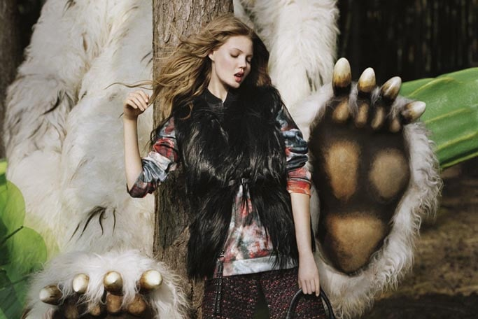No, this isn't a children's story, it's Mulberry's Fall '12 ad campaign.