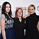 Pictured: Laura Prepon, Taylor Schilling, and Piper Kerman