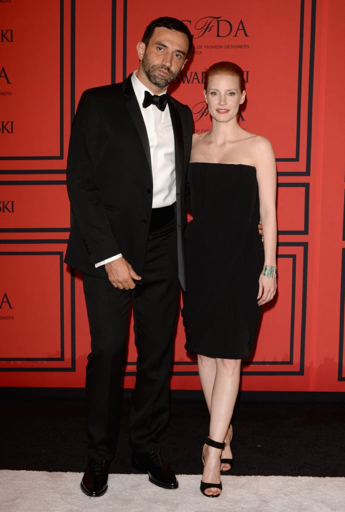 Jessica Chastain posed with Givenchy's Riccardo Tisci.