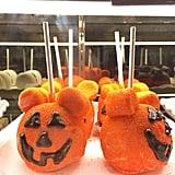 Pumpkin Mickey Caramel Apples