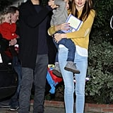 Orlando Bloom, Miranda Kerr, and Flynn left a friend's house the day after Christmas in 2012.