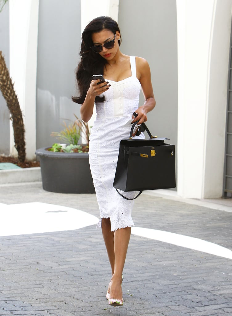 Naya Rivera in a White Dress