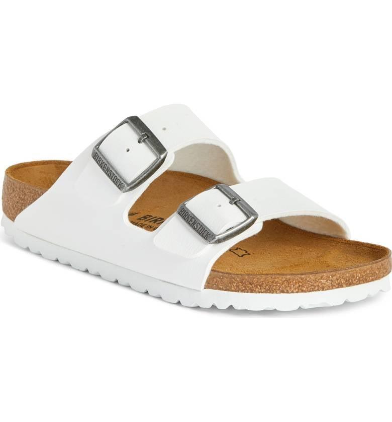 d2a9e1a3847dbb Birkenstock Arizona White Birko Flor Sandals