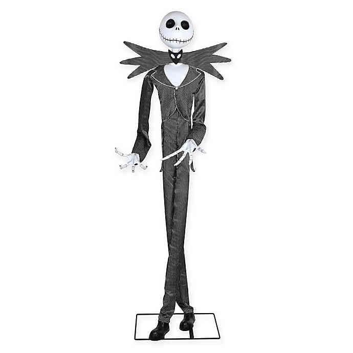 Disney Life Size Jack Skellington Animated Figure in Black/White