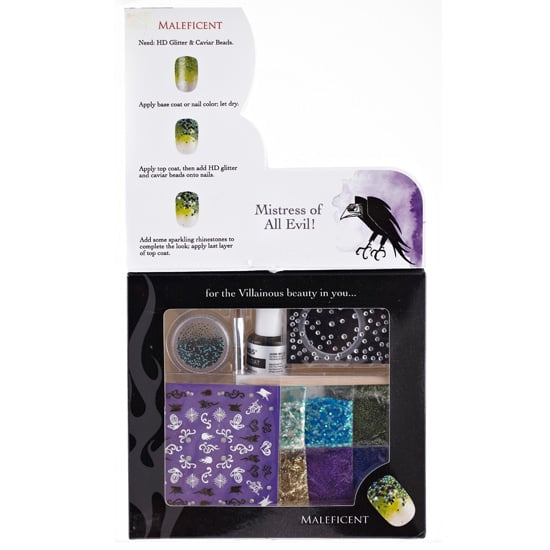 Each of the Disney Villains sets comes with a flat brush, foil tape, nail stickers, rhinestones, glitter, caviar beads, and a top coat. Plus, when you open the top, there's a step-by-step guide to nailing the key look. But of course it's fun to let your imagination run wild, too.