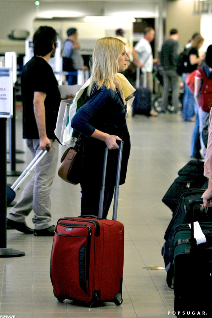 Claire Danes waited in line at LAX.