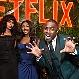 Pictured: Sabrina Dhowre and Isan and Idris Elba