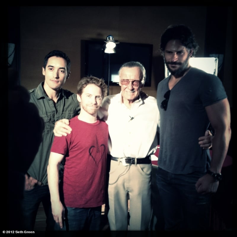 Seth Green posed with Stan Lee and Joe Manganiello. Source: Seth Green on WhoSay