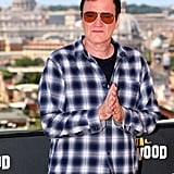 Quentin Tarantino at the Once Upon a Time in Hollywood photocall in Rome.
