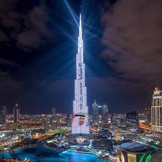 عرض أضواء الليزر في برج خليفة 2018