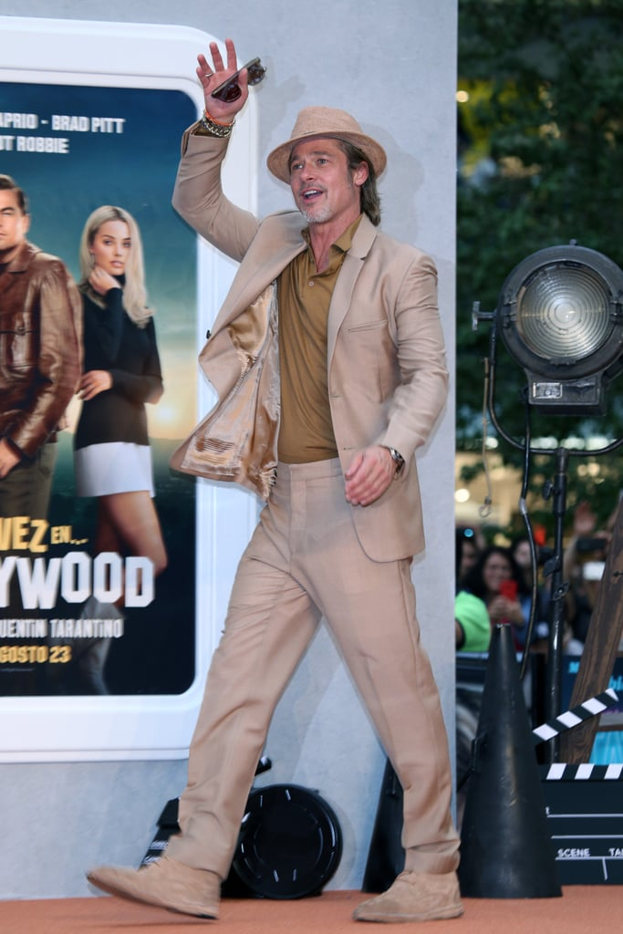 Brad Pitt at the Mexico premiere of Once Upon a Time in Hollywood.