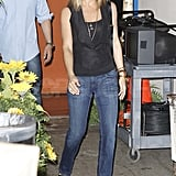 Jennifer Aniston stepped out in heels in NYC.