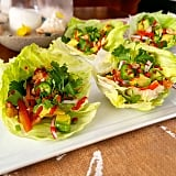 While often overlooked, iceberg lettuce is also a great foundation for  wraps.