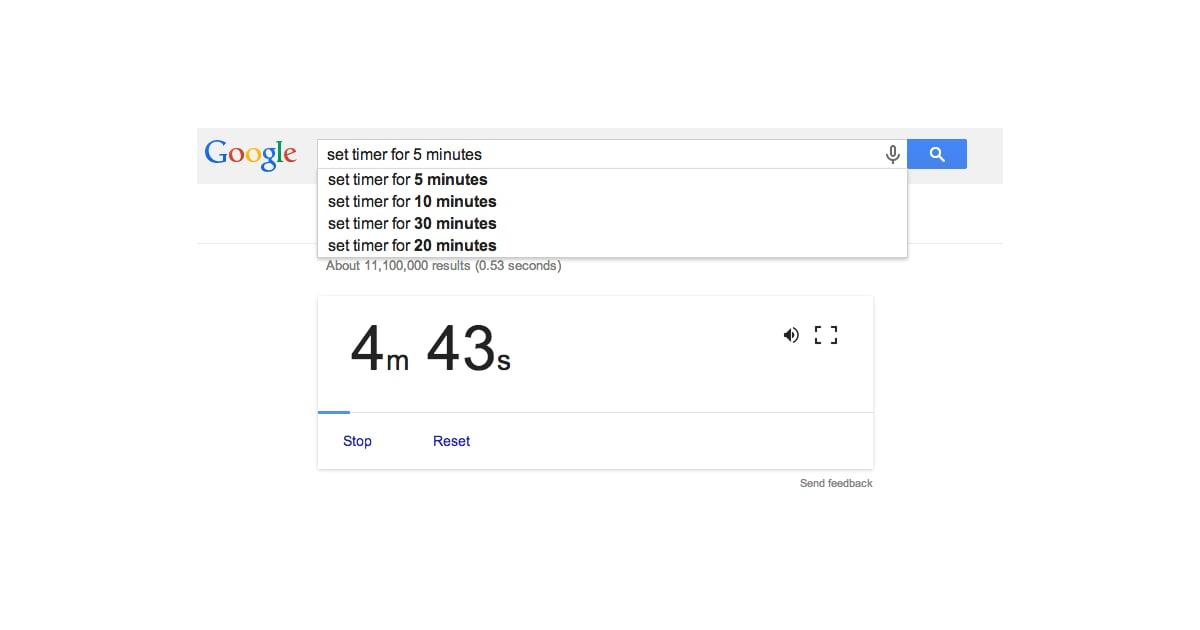 set a timer for 10 minutes