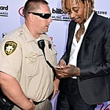 Wiz Khalifa and a Police Officer
