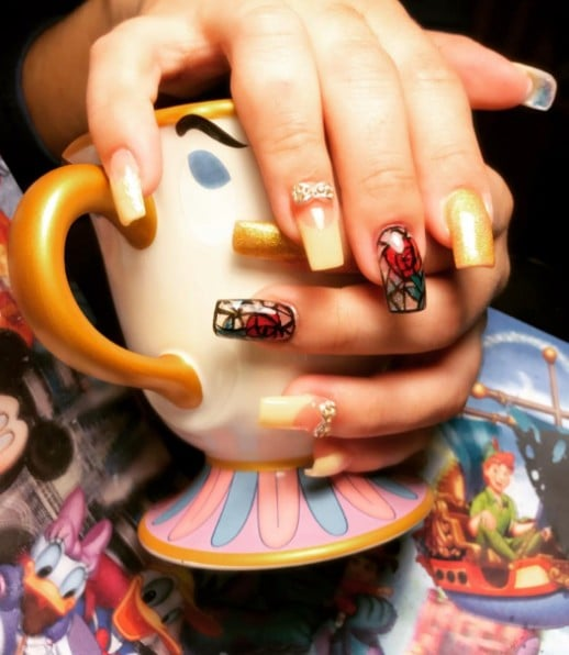 Beauty and the Beast Nail Art