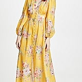 Zimmermann Zinnia Button Front Long Dress