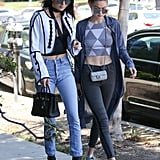 Kendall Jenner and Gigi Hadid Crop Tops June 2016