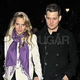 Michael Bublé and Luisana Lopilato stepped out in London.