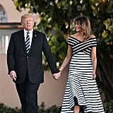 Melania Trump's Carolina Herrera Striped Dress