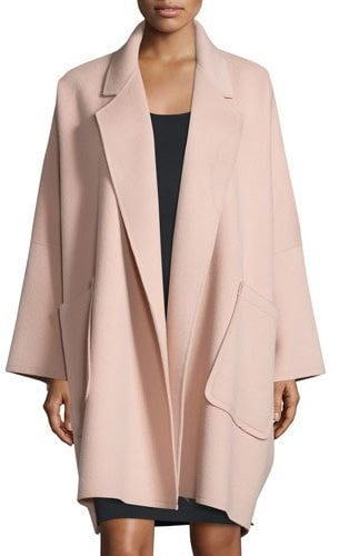 Helmut Lang Oversized Open-Front Wool-Blend Coat ($1,195)
