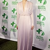 Emmy Rossum channelled Old Hollywood glamour in a draped, Grecian-style gown by Sophia Kokosalaki.