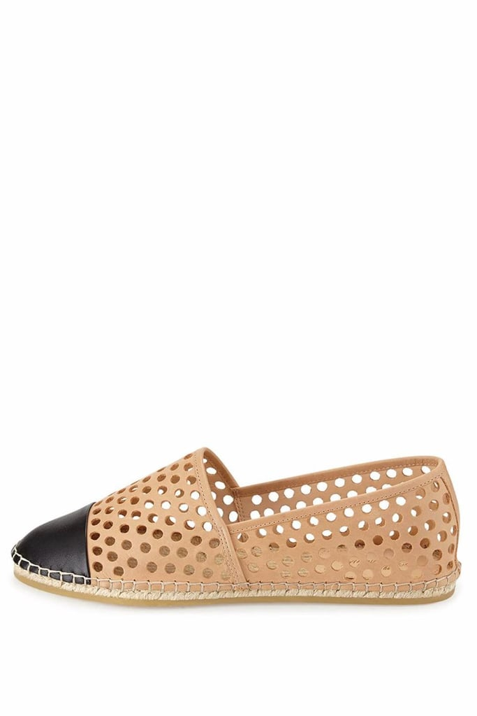Loeffler Randall Laser-Cut Leather Espadrille