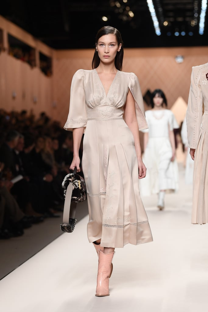 Bella Hadid Walking the Fendi Runway at Milan Fashion Week Fall/Winter 2018/19