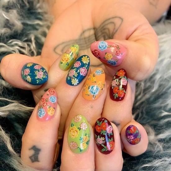 Kesha Floral Nail Art