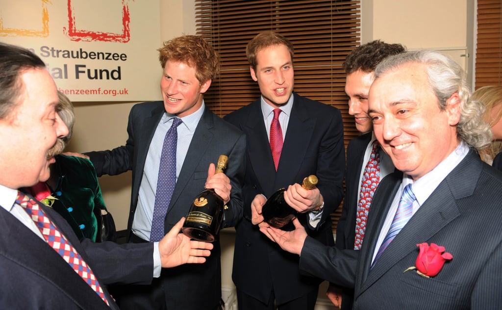 They received bottles of Champagne at a fundraising event in January 2008.