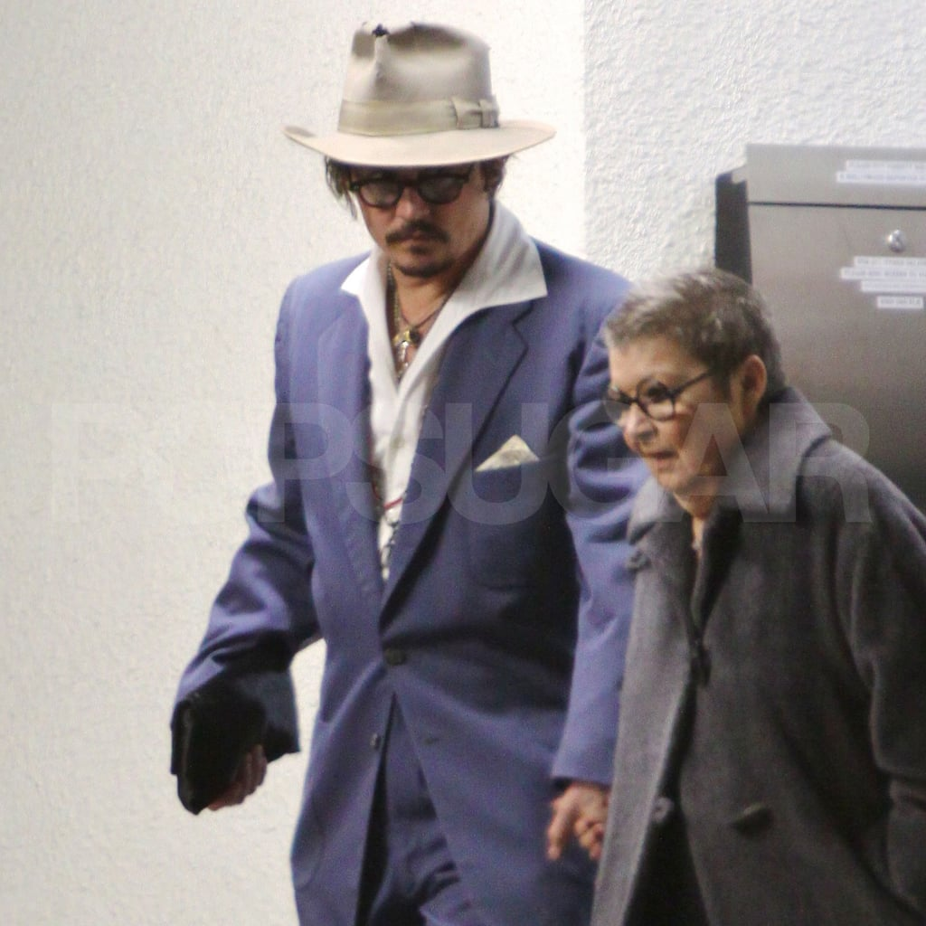 Johnny Depp went out in LA on New Year's Eve.