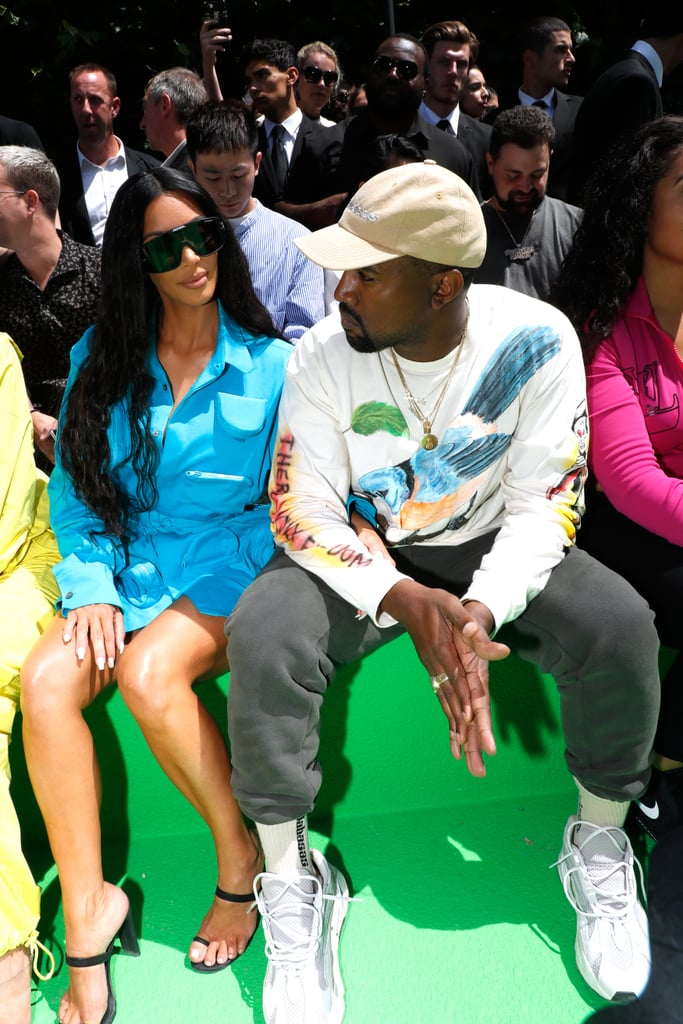 61b3e6325a Kim Kardashian and Kanye West at Paris Fashion Week 2018