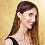 Glitter Strobing on Cheekbones: Fair Skin Tone