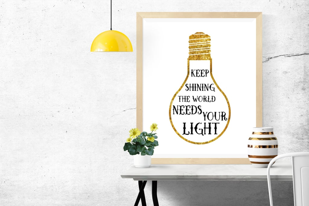 Keep Shining Inspirational Poster
